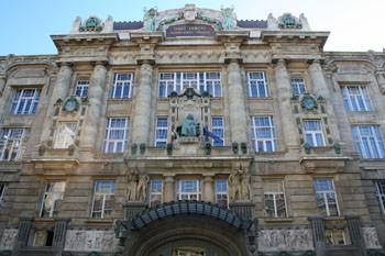 the facade of the Music Academy