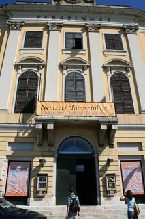 the facade of the Hungarian National Dance Theater