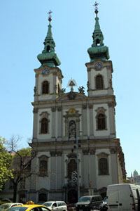the towers of St. Anne Church on Batthyany Sqr. in Buda