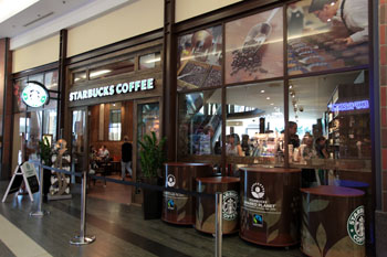 the entranc eof Starbucks cafe in WestEnd