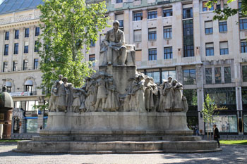 statue of Vörösmarty, front view