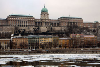 the National Gallery in Buda Castle, from Pest
