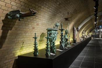 statues, gargoyles in the Lapidarium