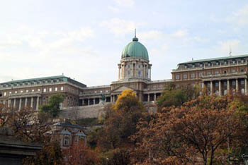 colorful foliage in Buda Palace late September